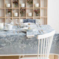 Zara Home Handtücher : tablecloth with print in blue a table pinterest blau ~ Orissabook.com Haus und Dekorationen