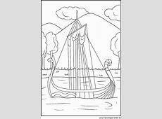 Wikingerschiff als gratis Ausmalbild für Kinder