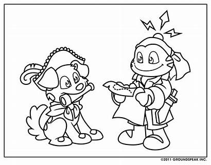 Geocaching Signal Coloring Sheet Funny Tracker Pages