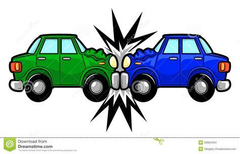 animated wrecked cartoon car crash clipart