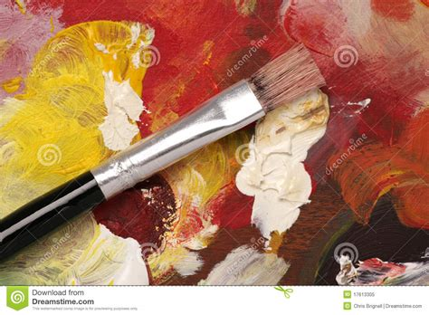 artist palette  paint brush background royalty
