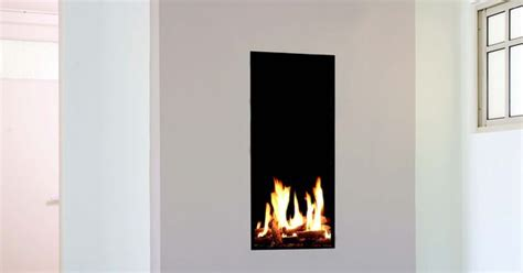 tall narrow gas fireplace created  ortal fireplace