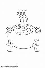 Cauldron Fantasy Coloring Flashcards sketch template
