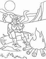 Coloring Cowboy Cowboys Dallas Campfire Printable Children Wild Theme Pumpkin Crafts Malvorlagen Kostenlose Helmet Afkomstig Getdrawings Stevens sketch template