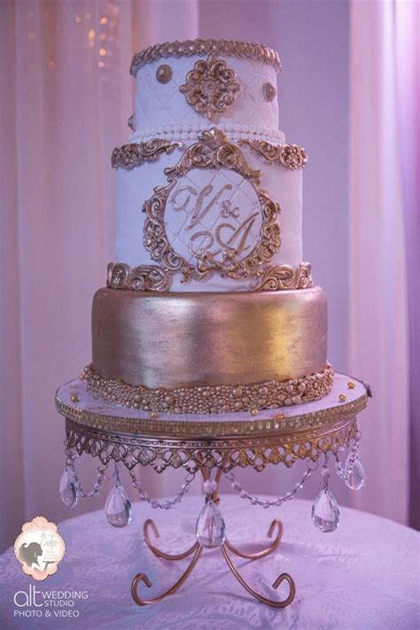 white and gold cake baroque wedding cake white gold cakecentral 1294