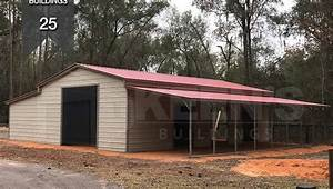 steel building kb 25 24x36x10 12x41 enclosed lean to 12x41 With 25 x 25 steel building
