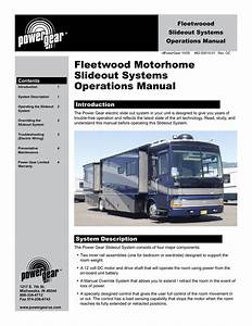 Fleetwood Motorhome Slideout System Users Manual For Power