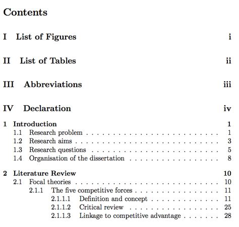 table of contents definition an exle of a thesis statement in a speech thesis