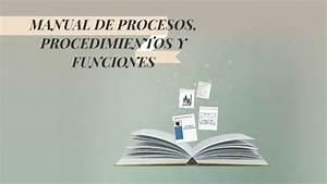 Manual De Procesos  Procedimientos Y Funciones By Dayana