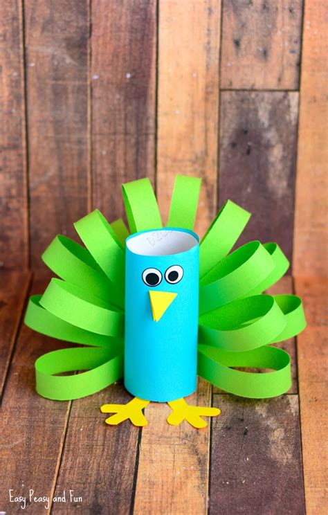 crafts to make toilet paper roll peacock craft idea easy peasy and