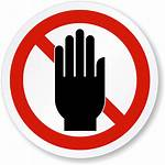 Touch Sign Don Transparent Stay Icon Obstruct
