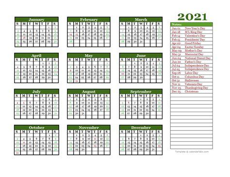 editable  yearly word calendar  printable