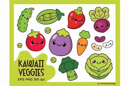 Kawaii Veggies Vegetable Creativemarket Vegetables Cockatoodesign Drawing