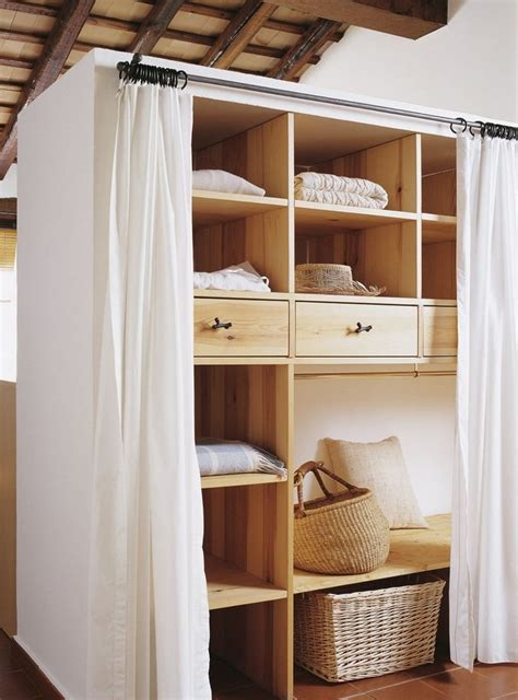 Walk In Closet Curtain by 45 Best Images About Curtain Storage On