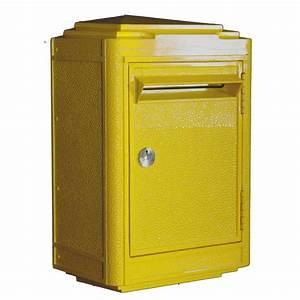 Boite Aux Lettres La Poste : boite aux lettres jaune la poste rose bunker ~ Melissatoandfro.com Idées de Décoration