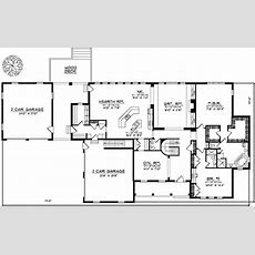Spacious One Level Home Plan  89207ah Architectural