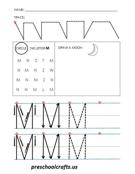 alphabet letter m worksheets preschool crafts 811 | alphabet letter m worksheets