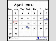 April 2018 Calendar Holidays February 2019 Calendar