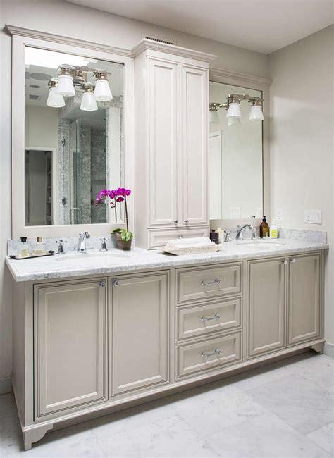 Bathroom Vanity Light Ideas by Gorgeous Master Bathroom Features A Light Grey