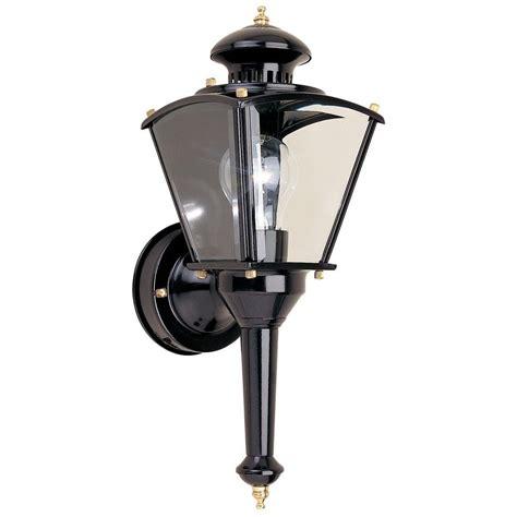 hton bay black motion sensing outdoor wall lantern