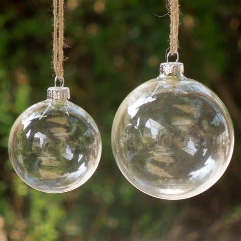 decorating glass ball ornaments 6pcs lot glass clear baubles ornaments decorations tree pendants