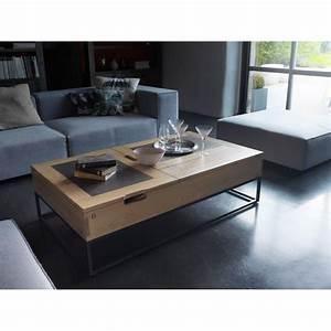 Table Basse Atelier Plateau Relevable Meubles Rigaud