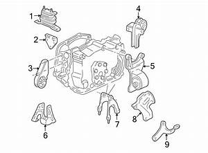 Oldsmobile Alero Transmission  Mount  Bracket  Brace  Support  3 1 Liter  3 4 Liter