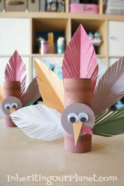 25 easy thanksgiving crafts for socal field trips 611   Turkey Toilet Paper Roll Craft for Preschoolers