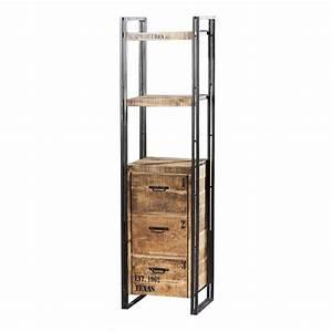 Etagere Style Industriel : tag re de bureau factory meubles industriels en bois ~ Nature-et-papiers.com Idées de Décoration