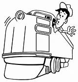 Train Coloring Engineer Locomotive Railroad Caboose Pages Conductor Drawing Machinist Hat Looking Cartoon Printable Template Getdrawings Trains Colorluna Google sketch template