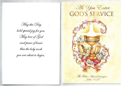priest  deacon greeting card   enters gods