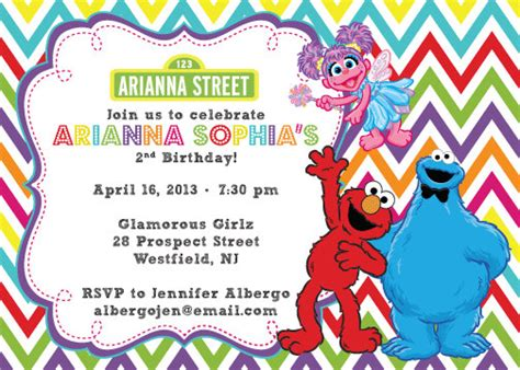 Elmo And Abby Birthday Invitations | Dolanpedia