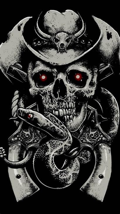 Skull Background Guns Iphone Skeleton Skulls Snake