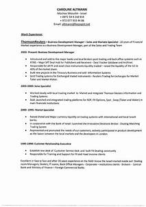 Computer Skills On Resume Example Caroline Altmann Financial Sales Business Development