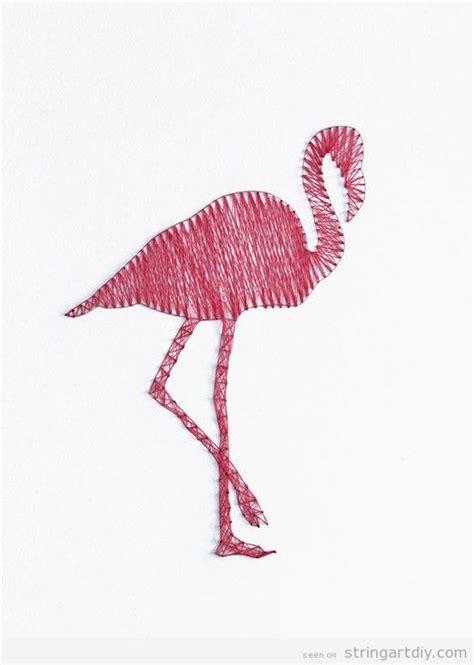 pink flamingo string art string art diy  patterns