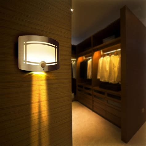 10 led motion sensor wireless wall light operated