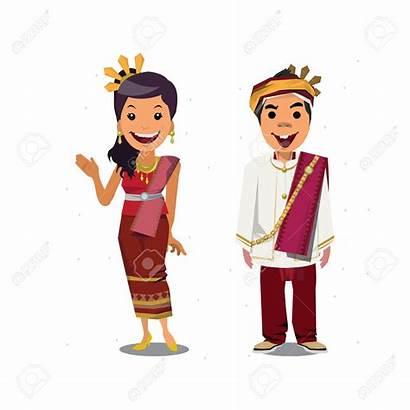 Thai Thailand Traditional Clipart Costume Chiang Mai