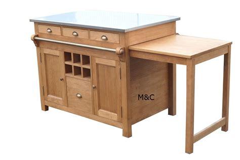 table meuble cuisine decoration cuisine avec meuble ilot a roulettes 21