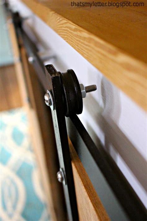 How To Build Barn Door Hardware by Diy Sliding Barn Door Console Hardware Tutorial Jaime