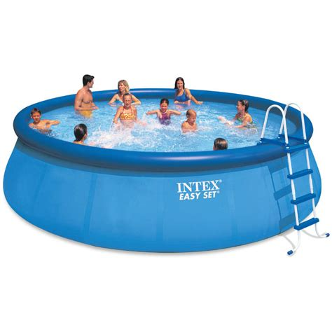 intex 24 x 12 x 52 quot ultra frame rectangular above ground swimming pool with sand filter