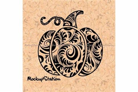 With halloween just around the corner, we'd like you to get creative with some spooky svg. Pumpkin Floral Mandala Zentangle Doodle Boho Fall Decor ...