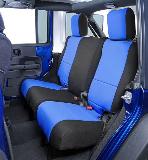 jeep wrangler backseat all things jeep coverking neoprene rear seat covers for
