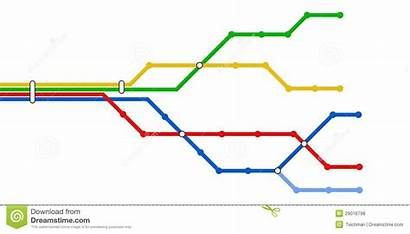 Map Subway Schematic Vector Royalty Lines Colorful