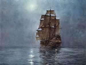 Sailing Ship Paintings at Night