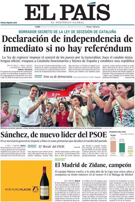 Las portadas de los periódicos de hoy, lunes 22 de mayo de ...