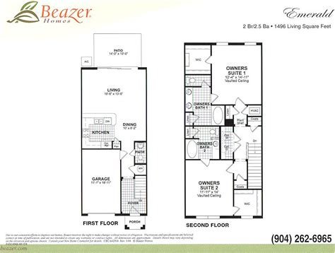 Beazer Homes Floor Plans by Verano At Bartram Park Community In Jacksonville Florida