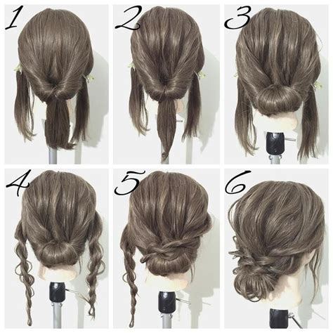 medium hair updo ideas  pinterest hair updos
