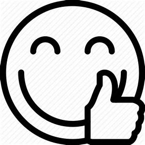 Smiley face thumbs up clipart black and white clipartsgram ...