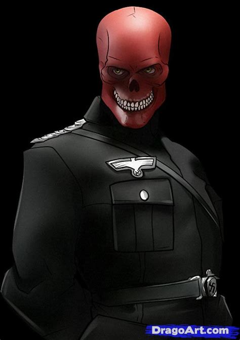 draw  red skull step  step marvel characters