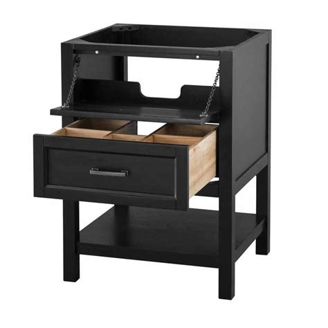"""Foremost 24"""" Georgette Cabinet Only Wo Top  Black"""